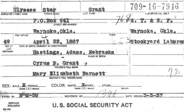 Copy of Social Security Application FamilyTree