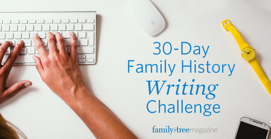 30-Day Family History Writing Challenge - Family Tree