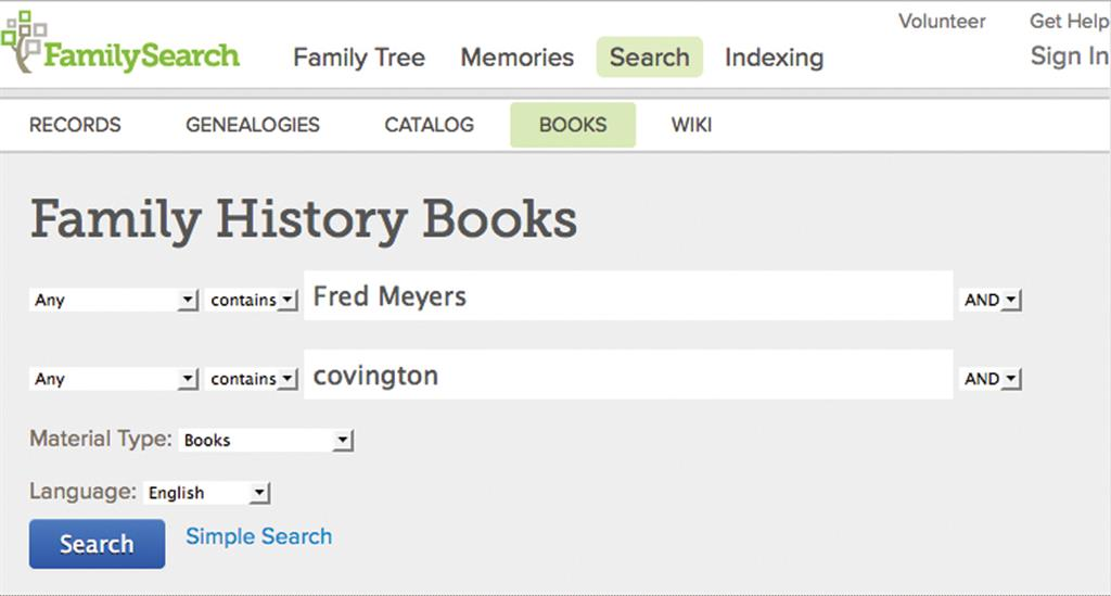 Find Your Ancestor in FamilySearch Free Online Family History Books