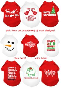 design your own christmas dog t-shirts! your pup will be ...