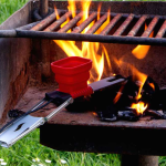 FlameStower recharger smartphone barbecue