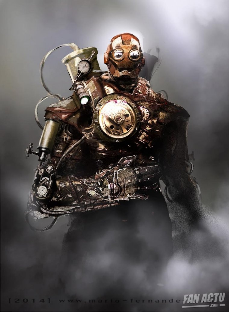 Anime Girl With Sucker Wallpaper Iron Man Redesign 233 En Version Steampunk Par Les Fans