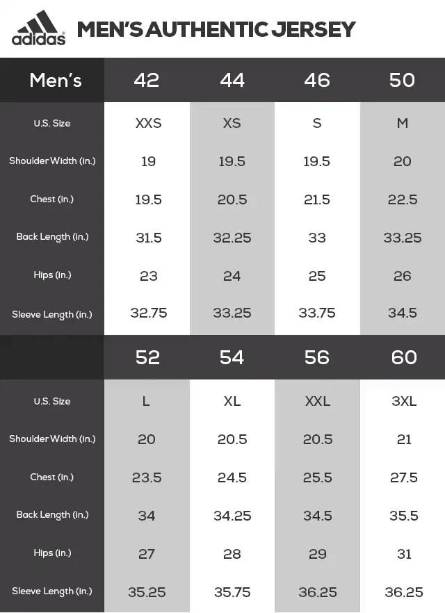 NHL Jersey Size Chart, Jersey Sizing Fanatics