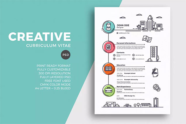 Creative Resume/CV Template \u2013 Fancy Resumes - Resume/cv Template