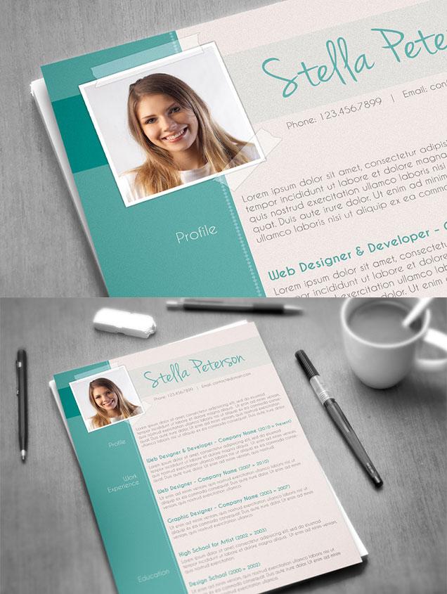 Tangy Peppermint Fancy CV Template \u2013 Fancy Resumes