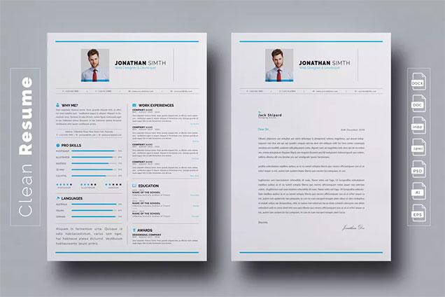 Modern Professional CV Template \u2013 Fancy Resumes