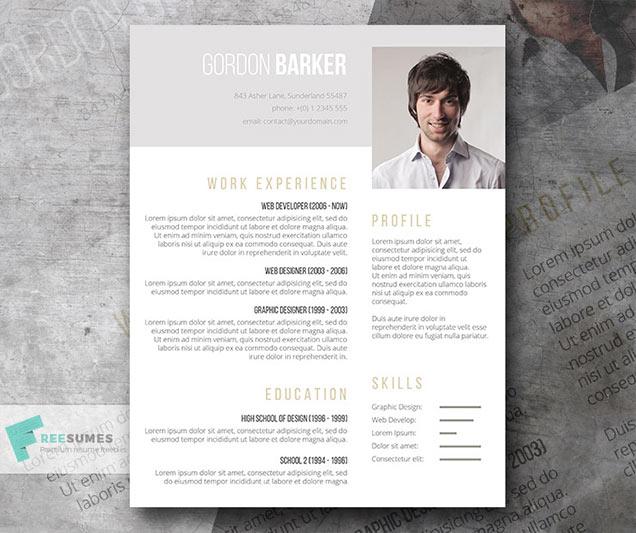 Smart Portfolio Resume Template for Word \u2013 Fancy Resumes