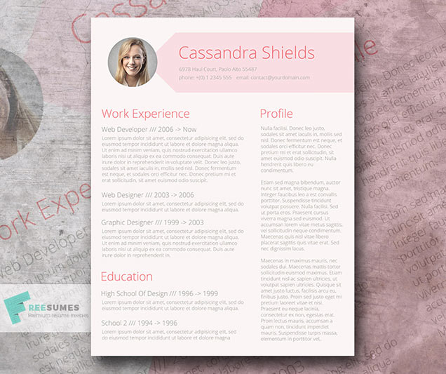 Blush and Pixie Resume Template Giveaway \u2013 Fancy Resumes