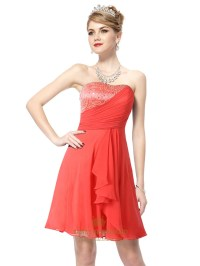 Short Coral Graduation Dresses,Short Coral Colored ...