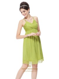 Lime Green Mini Dress,Lime Green Short Prom Dresses With ...