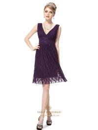 Short Dark Purple Prom Dresses ,Purple Cocktail Dresses ...