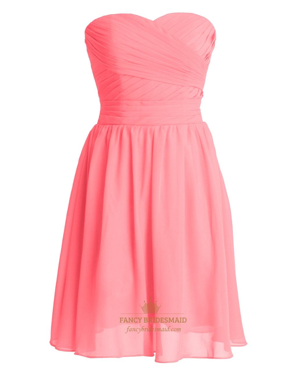 Fullsize Of Coral Bridesmaid Dresses