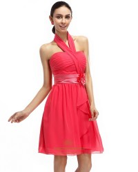 The gallery for --> Short Coral Chiffon Bridesmaid Dresses