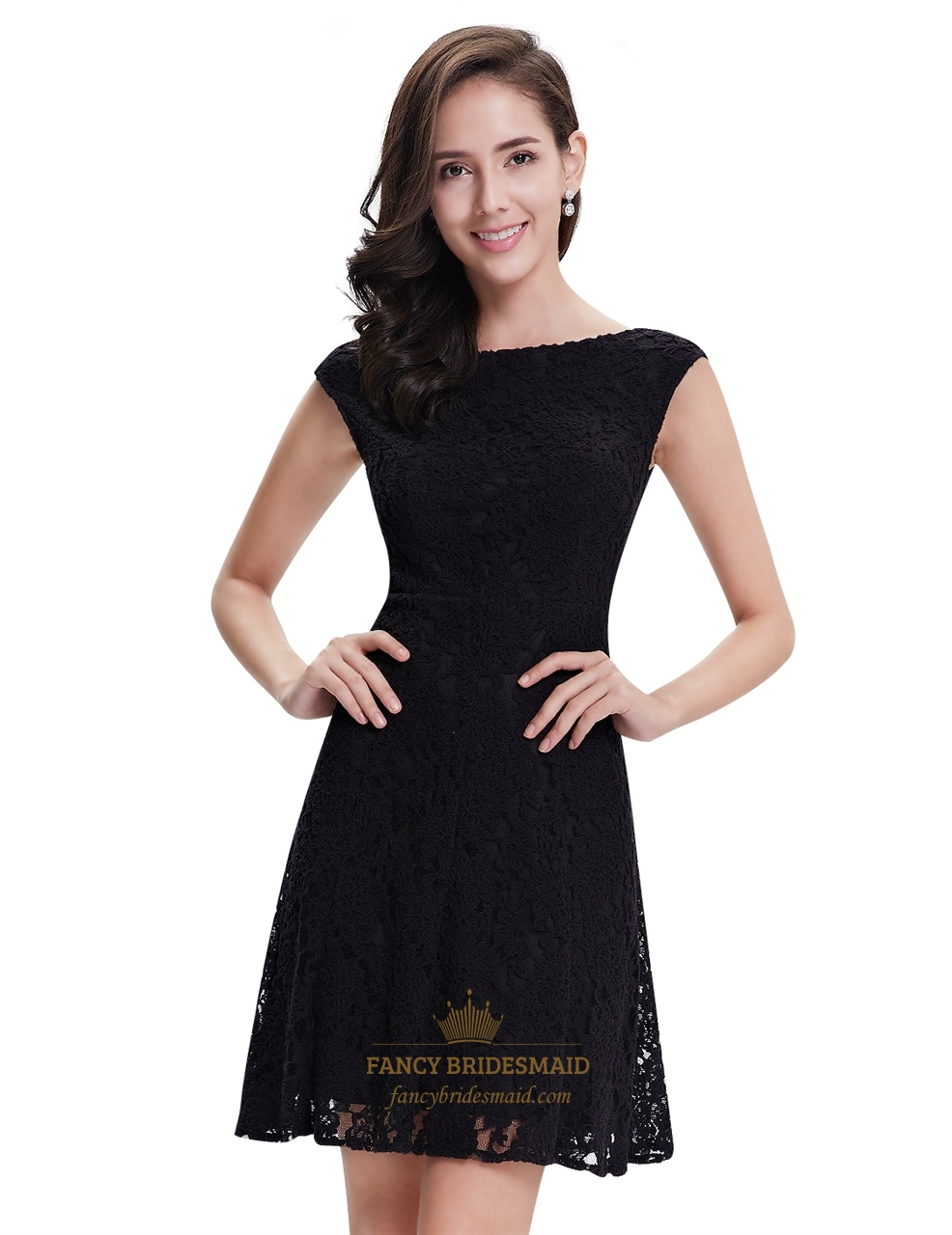 Awesome Cap Sleeves Black Lace Short Semi Formal Dresses Cap Sleeves Formal Dresses Short Pump Va Formal Dresses Short Blue Black Lace Short Semi Formal Dresses wedding dress Formal Dresses Short