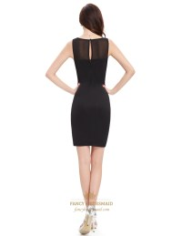 Sophisticated Black Sleeveless Hollow Out Bodycon Cocktail ...