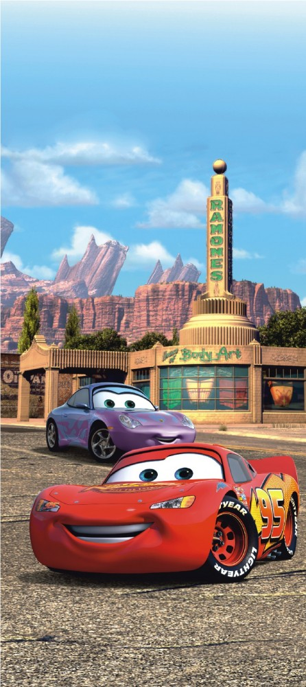 Mater Cars Wallpaper Door Wallpaper Wall Mural Wallpaper Cars 2 Lightning