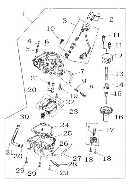 diagram further dirt bike parts diagram on 49cc scooter carburetor