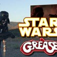 Here is a musical mashup of Star Wars and Grease. Darth Vader assumes the role of Danny Zuko at an abandon Drive-in singing to his dear departed wife Padme.