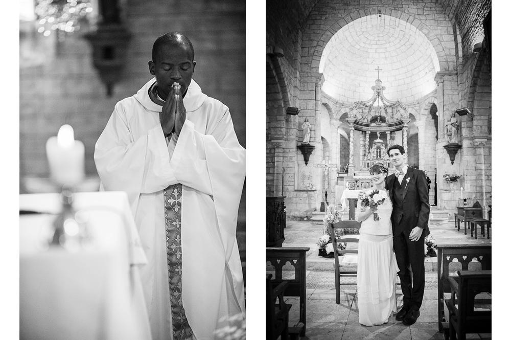 Cérémonie religieuse d'un mariage en lozère.