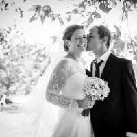 Photographie d'un couple lors d'un mariage au Domaine des Roses et des Tours à Saint-genes-du-retz dans le puy-de-dome.