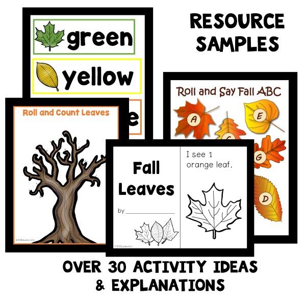 Preschool Fall Leaf Theme Activities - Fantastic Fun  Learning