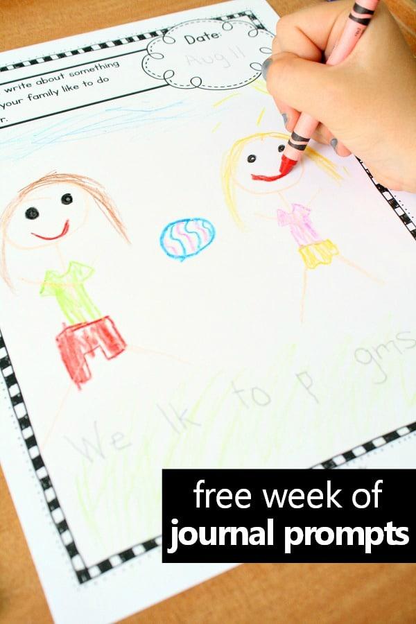 Preschool and Kindergarten Writing Prompts for Kids - Fantastic Fun
