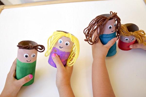 Cardboard Tube Family Craft - Fantastic Fun  Learning