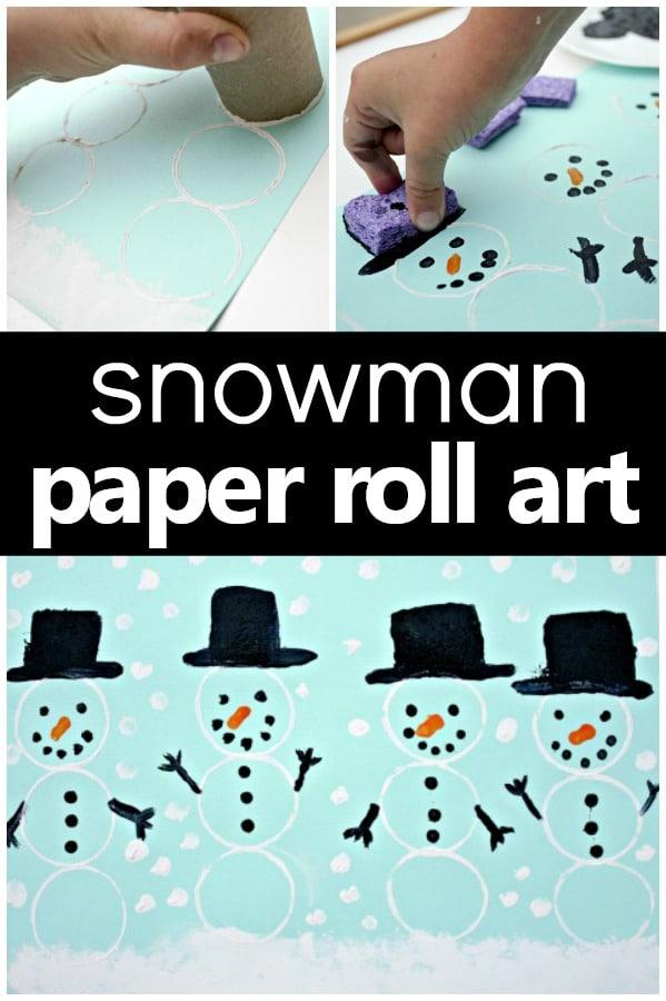 Snowman Paper Roll Art - Fantastic Fun  Learning