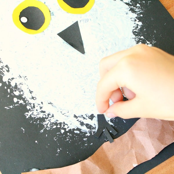 Snowy Owl Winter Craft for Kids - Fantastic Fun  Learning