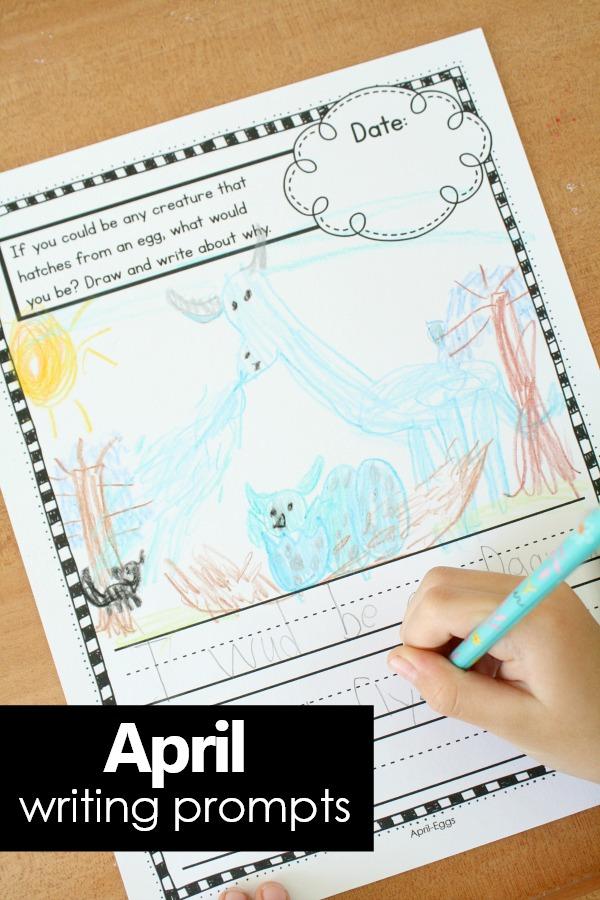 journal topics for kindergarteners
