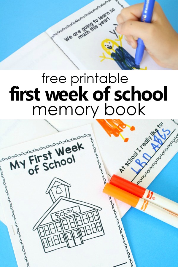 My First Week of School Printable Book - Fantastic Fun  Learning
