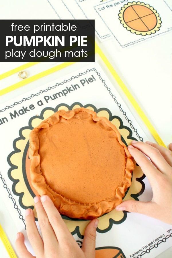 Pumpkin Pie Play Dough Fractions Free Printable - Fantastic Fun