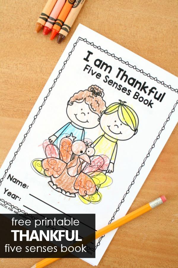 Thanksgiving 5 Senses Easy Reader - Fantastic Fun  Learning