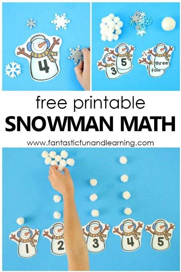 Counting Snowballs Winter Math Activity - Fantastic Fun  Learning
