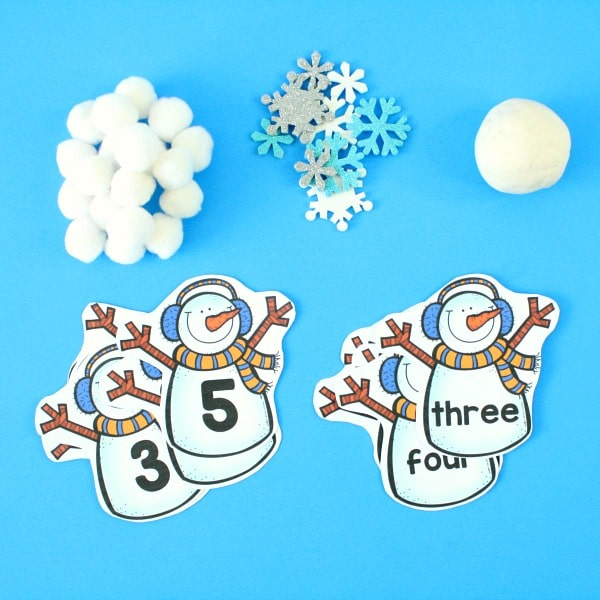 Counting Snowballs Winter Math Activity - Fantastic Fun  Learning