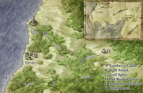 Fantasy Regional Chase Map for Interaction Point Games Pathfinde