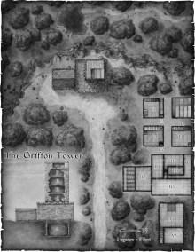 Griffon Hatchling Heist fantasy map