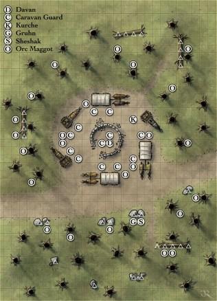 D&D 4E dungeon battlemap