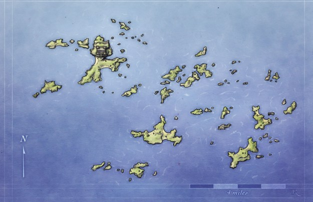 Free fantasy archipelago map for pathfinder and 4e d&d