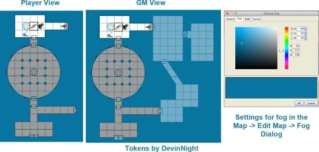 How to set the Fog of War to be TSR d&d blue in maptool