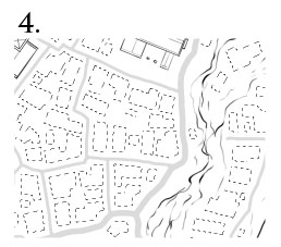 How to draw a town map