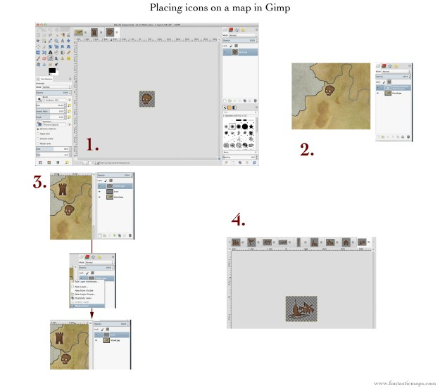 Placing Icons on a Map with Gimp