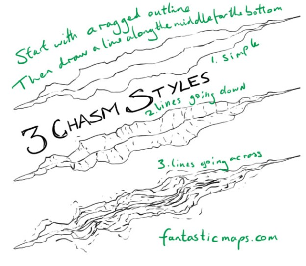 How to Draw a Chasm on a Map