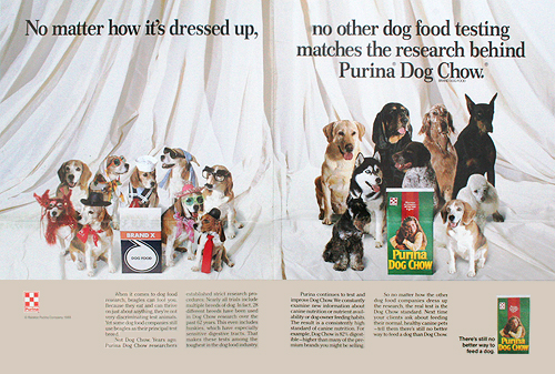 Magazine ad for Purina Fit \ Trim dog food (animal health - pet poster