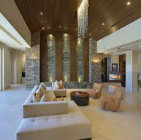 13 High Ceiling Living Room That Will Make The Room Bigger