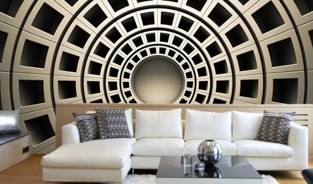 16 Creative 3D Living Room Wallpaper Ideas That You Should Check - wallpaper ideas for living room