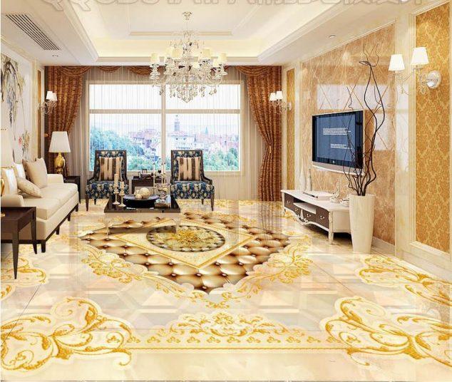 Wallpaper For Living Room 3d 15 Lovely 3d Epoxy Floor For Spectacular Living Room