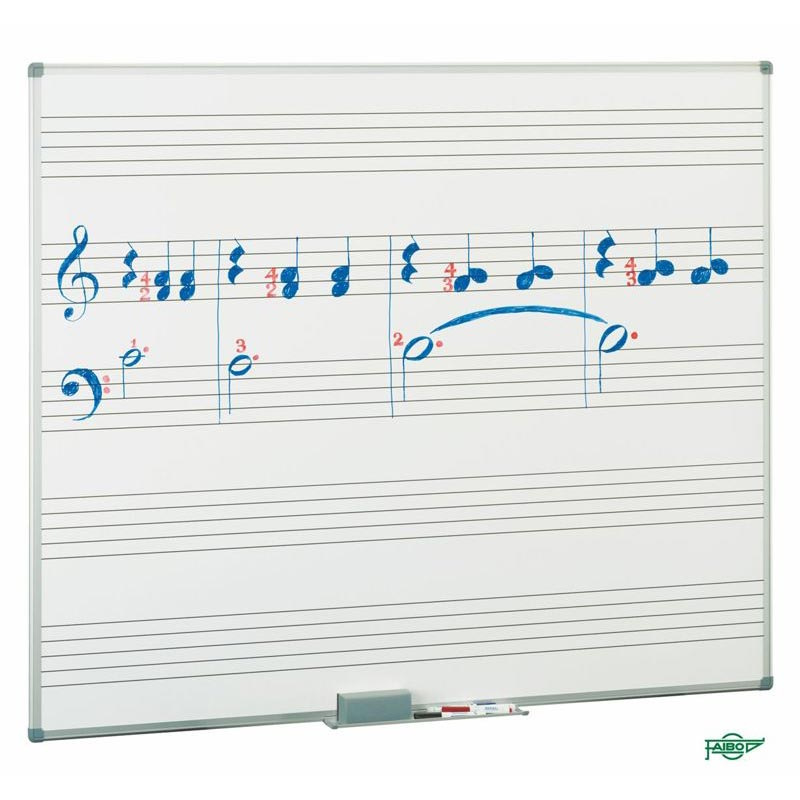 WHITE BOARDS WITH MUSICAL STAVES - FAPI