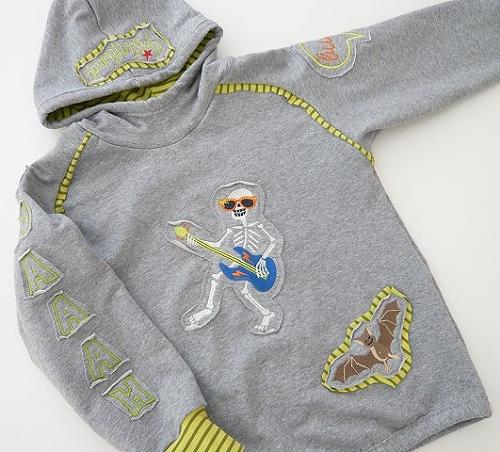Schnittmuster für schlanke Kinder verschmalern, Sweater