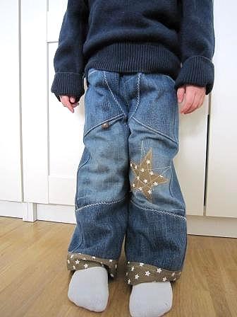 recycle-style, alte Jeanshosen zur Kinderjeans, farbenmix
